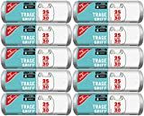 Gut & Günstig Müllbeutel/Mülltüten mit Tragegriff, 25 Liter, 30 Stück pro Rolle, Reißfest & Flüssigkeitsdicht, Produkt & Verpackung recyclebar (10er Pack)