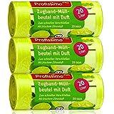 Profissimo 20 Liter Zugband Müllbeutel mit frischem Zitrusduft - 3er Pack - 75 Beutel (3 x 25 Stück) - Ideal für Haushalt, Büro und Bad…