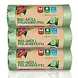 Bio-Müll Folienbeutel 15 Liter (45 Stück) - Feinste Materialqualität und Haptik 3er Pack (3 x 15 Stück) zu 100% kompostierbar