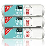 Gut & Günstig Tragegriff Müllbeutel 50L (20 Stück) - 3er Pack - Reißfest & Flüssigkeitsdicht - (3 x 20 Stück)