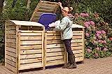 GreenSeason Mülltonnen-Box Mülltonnenverkleidung für 3 Tonnen inkl. Rückwand
